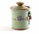 Crosby & Taylor Pewter Bird Salt Pot - Pistachio