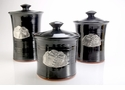 Crosby & Taylor Pewter Dragonfly Canister Set - Blackberry