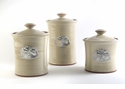 Crosby & Taylor Pewter Dragonfly Canister Set - Latte