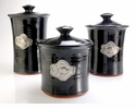 Crosby & Taylor Pewter Fish Canister Set - Blackberry