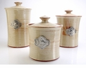 Crosby & Taylor Pewter Fish Canister Set - Latte