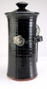 Crosby & Taylor Pewter Fish Coffee Canister - Blackberry