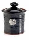 Crosby & Taylor Pewter Fish Garlic Pot - Blackberry