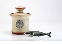 Crosby & Taylor Pewter Fish Petite Salt Pot - Latte