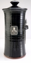 Crosby & Taylor Pewter Fleur de Lys Coffee Canister - Blackberry