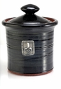 Crosby & Taylor Pewter Fleur de Lys Garlic Pot - Blackberry