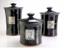 Crosby & Taylor Pewter Hearts Canister Set - Blackberry
