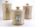 Crosby & Taylor Pewter Hearts Canister Set - Latte