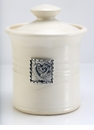 Crosby & Taylor Pewter Hearts Garlic Pot - Whipping Cream