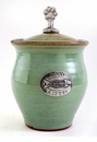 Crosby & Taylor Pewter Kitty Pet Treat Jar - Pistachio