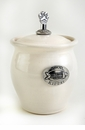 Crosby & Taylor Pewter Kitty Pet Treat Jar - Whipping Cream