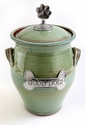 Crosby & Taylor Pewter Large Dog Pet Treat Jar - Pistachio