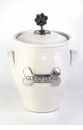 Crosby & Taylor Pewter Large Dog Pet Treat Jar - Whipping Cream