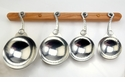 Crosby & Taylor Pewter Mother's Love Measuring Cups with Cherry Wood Display Strip