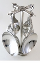 Crosby & Taylor Pewter Mother's Love Measuring Cups with Pewter Display Post