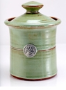 Crosby & Taylor Pewter Roman Garlic Pot - Pistachio