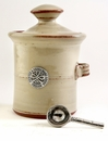 Crosby & Taylor Pewter Roman Salt Pot - Latte