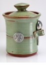 Crosby & Taylor Pewter Roman Salt Pot - Pistachio