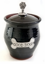 Crosby & Taylor Pewter Small Dog Pet Treat Jar - Blackberry