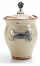 Crosby & Taylor Pewter Small Dog Pet Treat Jar - Latte