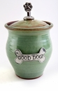 Crosby & Taylor Pewter Small Dog Pet Treat Jar - Pistachio