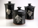 Crosby & Taylor Pewter Vineyard Canister Set - Blackberry
