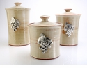 Crosby & Taylor Pewter Vineyard Canister Set - Latte
