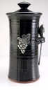 Crosby & Taylor Pewter Vineyard Coffee Canister - Blackberry