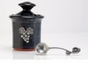 Crosby & Taylor Pewter Vineyard Petite Salt Pot - Blackberry