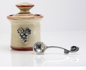 Crosby & Taylor Pewter Vineyard Petite Salt Pot - Latte