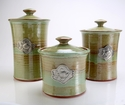 Crosby & Taylor (Tin Woodsman) Canister Set Pistachio - Fish