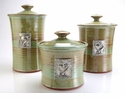 Crosby & Taylor (Tin Woodsman) Canister Set Pistachio - Hearts