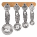 Crosby & Taylor (Tin Woodsman) Pewter Moose Measuring Spoons with Cherry Wood Display Strip
