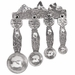 Crosby & Taylor (Tin Woodsman) Pewter Moose Measuring Spoons with Pewter Display Strip