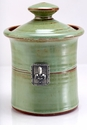 Crosby & Taylor (Tin Woodsman) Pistachio Garlic Pot - Fleur de Lys