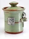 Crosby & Taylor (Tin Woodsman) Pistachio Salt Pot - Hearts