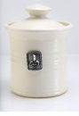 Crosby & Taylor (Tin Woodsman) Whipping Cream Garlic Pot - Fleur de Lys