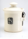 Crosby & Taylor (Tin Woodsman) Whipping Cream Salt Pot - Fleur de Lys