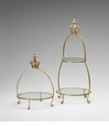 Crown Two Tier Iron and Glass Stand by Cyan Design