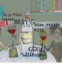 Curly Girl 20 ct Cocktail Napkins - Wine and Friends