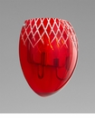Cyan Design 2 Light Red Etched Sconce