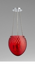 Cyan Design 3 Light Red Etched Pendant