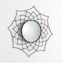 Dahlia Bronzed Iron Mirror by Cyan Design