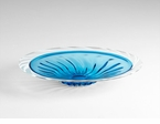Daria Blue and White Art Glass Plate by Cyan Design