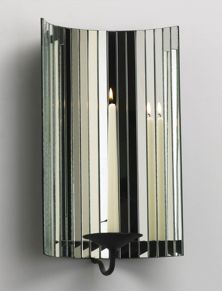 Dazzling Mirror Wall Mount Candleholder By Cyan Design