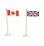 Department 56 Snow Village International Flags (2) - Canada & Great Britain