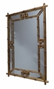Dessau Home Antiqued Gold Fretwork Mirror
