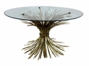 Dessau Home Antiqued Gold Wheat Coffee Table