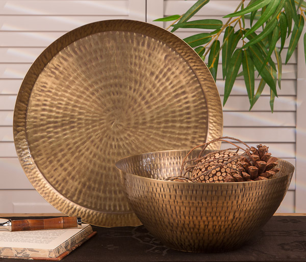 Brass Home Decor: Antiqued Hammered Brass Rice Bowl Home Decor $48.71, You