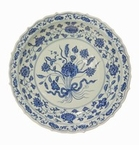 Dessau Home Blue And White Chippendale Plate